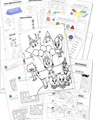 Awesome Free Shapes Worksheets  All Kids Network