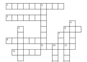 Printable Kids Crossword Puzzles