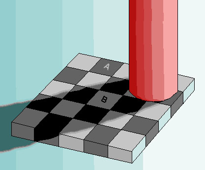 checkerboard optical illusion