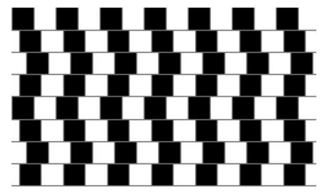 parallel lines optical illusion