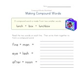 compound words worksheet 3