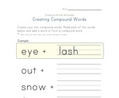 making compound words worksheet 1
