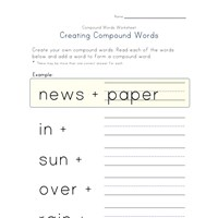 making compound words worksheet 2