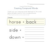 making compound words worksheet 3