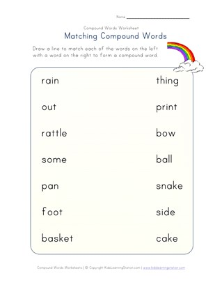 compound words matching 1