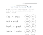 reading compound words worksheet 1