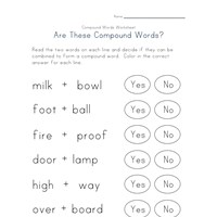 reading compound words worksheet 2