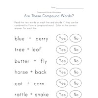 reading compound words worksheet 3