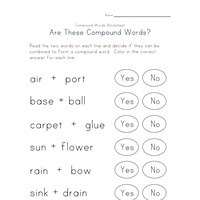 reading compound words worksheet 4