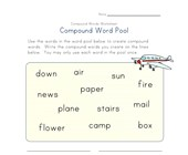 writing compound words worksheet 1