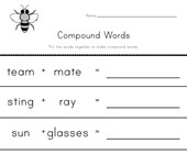 writing compound words worksheet 4