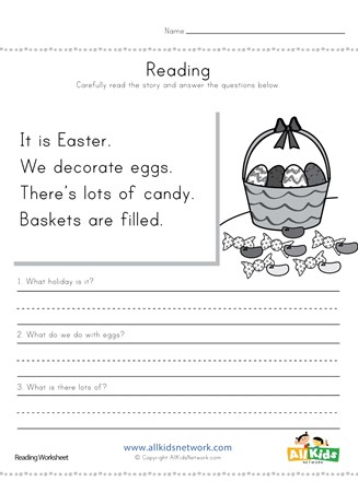 Easter Reading Comprehension Worksheet All Kids Network These worksheets encourage quick learning and expand horizons as kids sharpen their reading and comprehension skills. easter reading comprehension worksheet