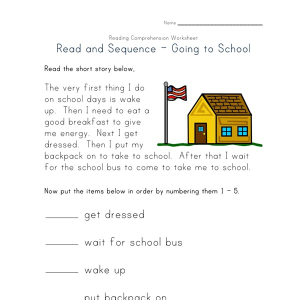 Worksheets Reading Comprehension For Kindergarten Worksheets reading comprehension worksheets all kids network read and sequence worksheet