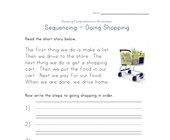 read and sequence shopping story