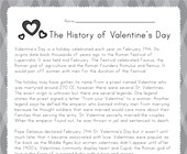 Valentine's Day Reading Worksheet