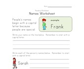 people names worksheet