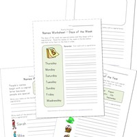 names worksheets