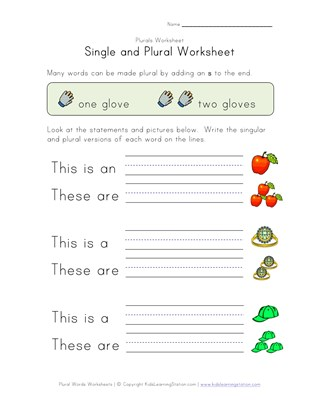 8 great free plural worksheets all kids network - Plural Of Christmas