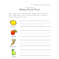 plural fruit worksheet