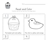 Easter Read and Color Worksheet