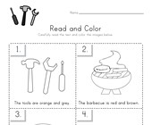 Labor Day Read and Color Worksheet