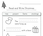 Christmas  Read and Write Worksheet