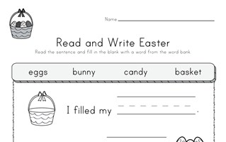 Easter Read and Write Worksheet