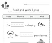 Spring Read and Write Worksheet