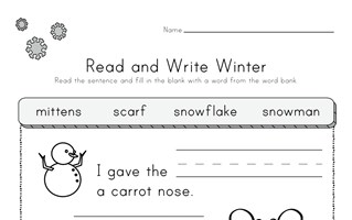 Winter Read and Write Worksheet