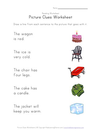 Picture Clues Worksheet 2 All Kids Network