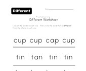 different word worksheet