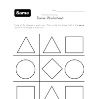 black and white same shape worksheet
