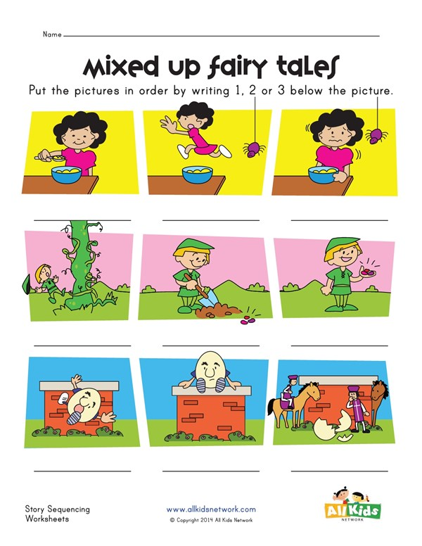 Fairy Tales Story Sequence Worksheet All Kids Network