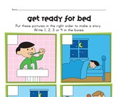 sequencing worksheet - bed time