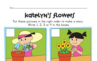 sequencing worksheet - planting flowers