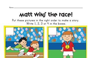 sequencing worksheet - running a race