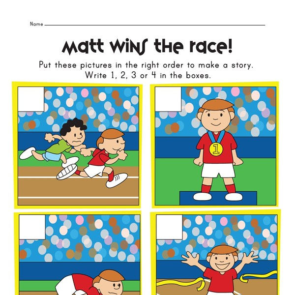 Sequencing Worksheet - Race : All Kids Network