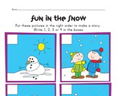 snowman sequencing worksheet
