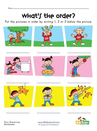 Story Sequence Worksheet   All Kids Network