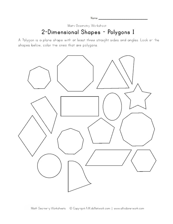 Polygons worksheet 1 all kids network ccuart Choice Image