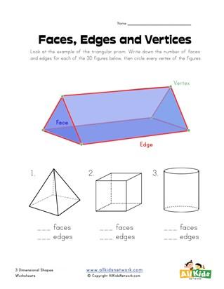 3 Dimensional Shapes Worksheets All Kids Network