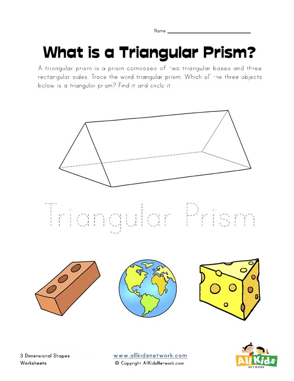 Triangular prism worksheet all kids network ccuart Images