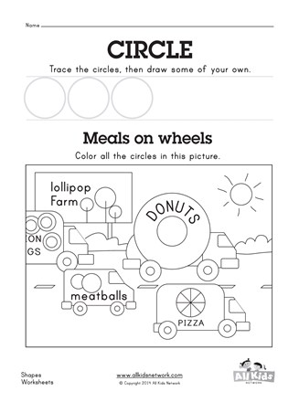 Free Circle Worksheet