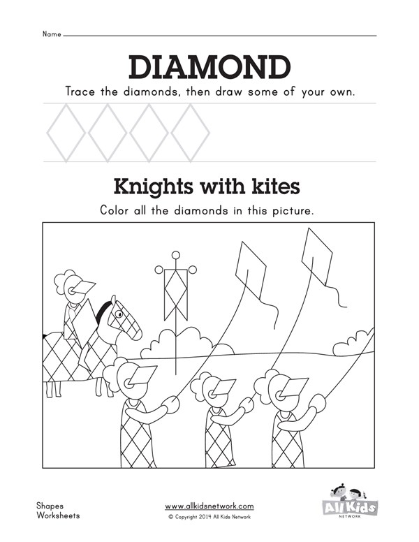 Diamond worksheet all kids network ccuart Images