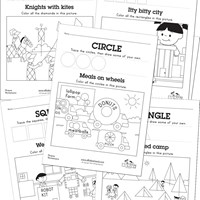draw and find shapes worksheets