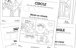50+ Awesome Free Shapes Worksheets | All Kids Network