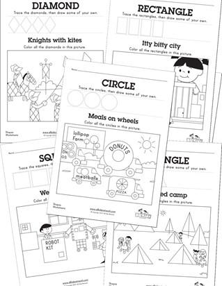Kindergarten Shapes Worksheets & Free Printables | Education.com
