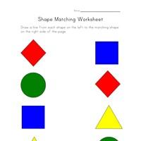 Printable Shapes Worksheet - Match Shapes   All Kids Network