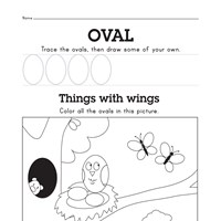 Free Oval Worksheet