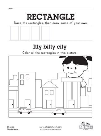 Rectangle Worksheet | All Kids Network